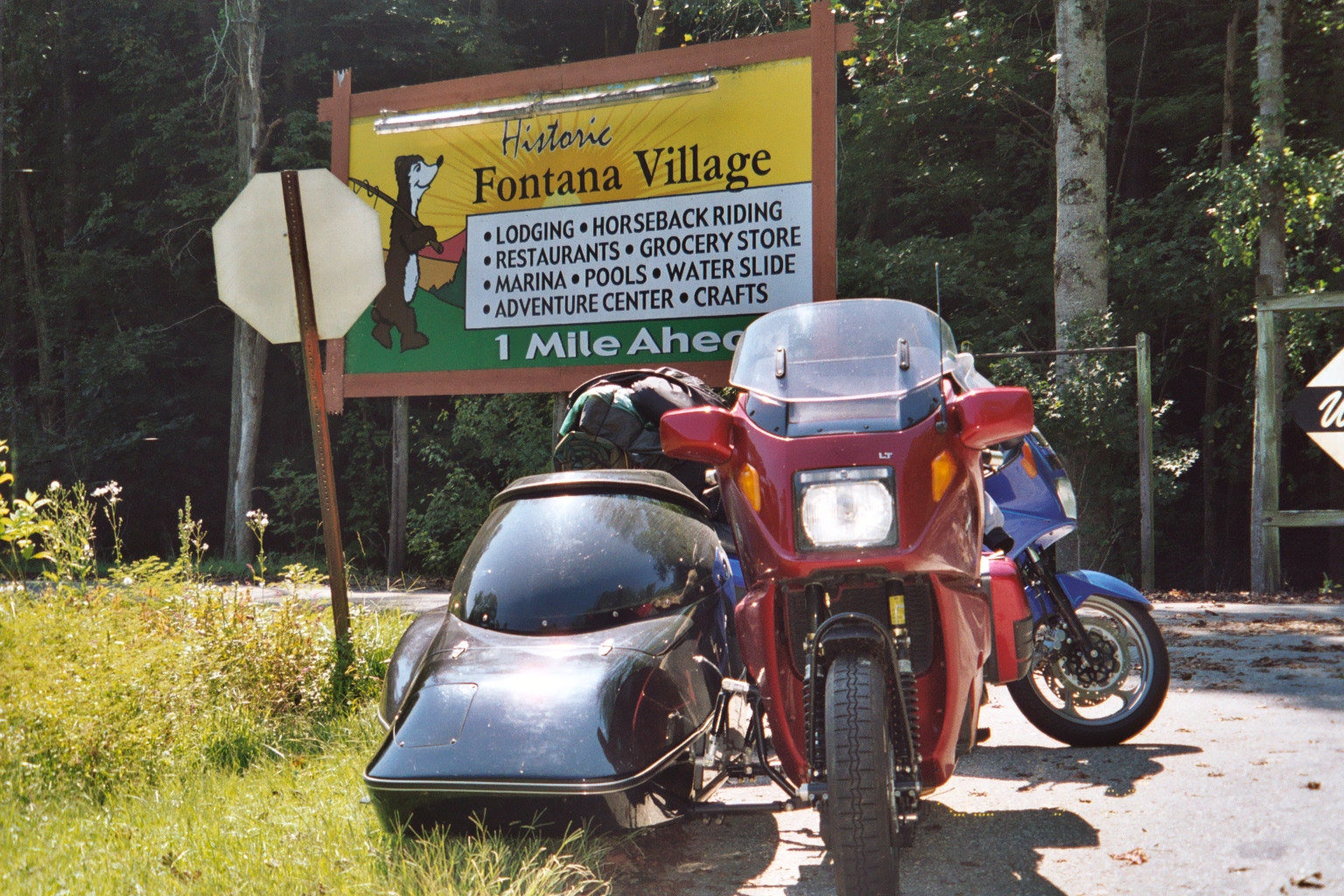 Steve and I at the Fontana Village sign